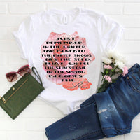 Lyrics Some Say Love Bette Midler Rose print Sublimation Transfer