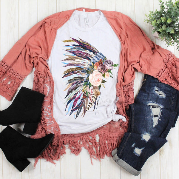 Multi-Color Floral Indian Headdress Sublimation Transfer