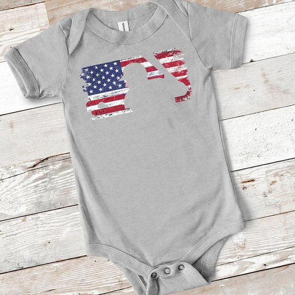 American Flag Major League Baseball INFANT BASEBALL Ships 2/17 Screen Print Heat Transfer