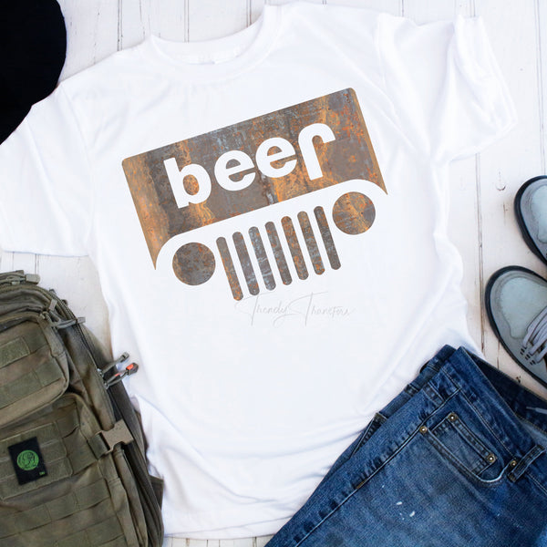 Jeep Beer Funny Grill Sublimation Transfer