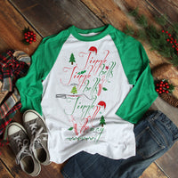 Jingle Bells Word art Sublimation Transfer