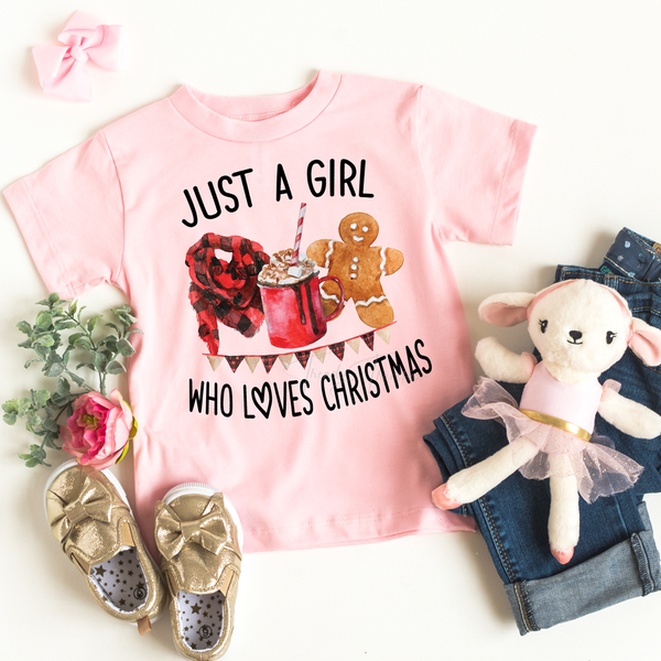 Just a Girl Who Loves Christmas YOUTH Screen Print Transfer