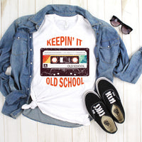 Keepin it Old School Cassette Retro Vintage Sublimation Transfer