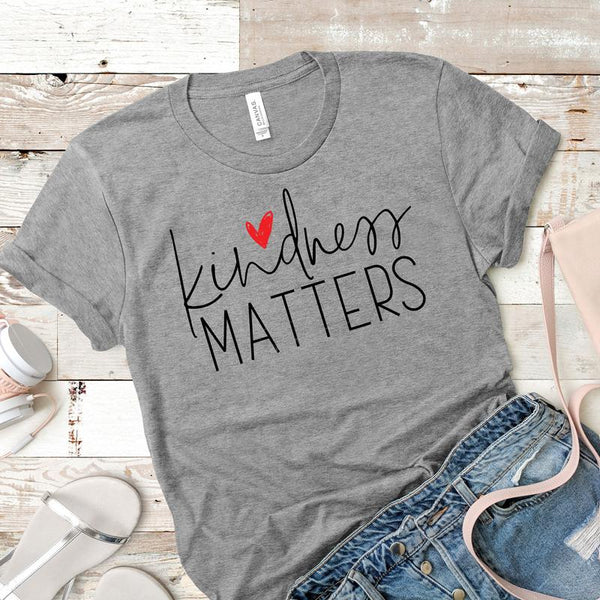 Kindness Matters Adult Screen Print Heat Transfer