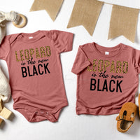 Leopard Is The New Black INFANT Screen Print Heat Transfer