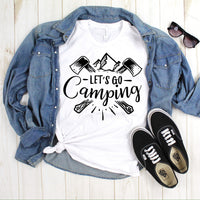 Let's Go Camping One Color Sublimation Transfer