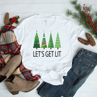 Let's get lit Christmas trees Sublimation Transfer