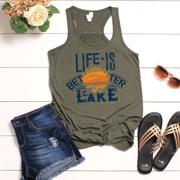 Life Is Better At The Lake Screen Print Heat Transfer