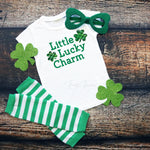 Little Lucky Charm plaid Infant Screen Print Transfer