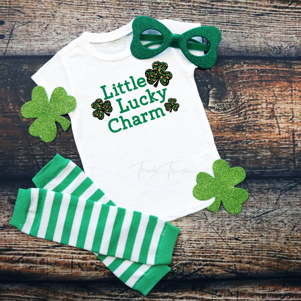 Little Lucky Charm Leopard Infant Screen Print Transfer