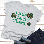 Little Lucky Charm leopard YOUTH Screen Print Transfer
