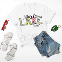 Living On Lake Time Sublimation Transfer