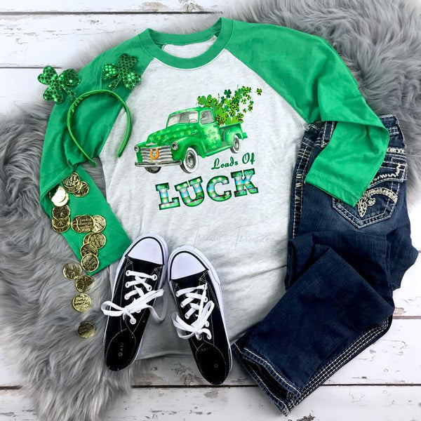 Loads of Luck St. Patrick's Day Truck Sublimation Transfer