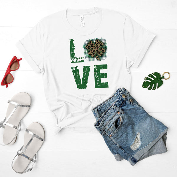 Love Clover St. Patricks Day Sublimation Transfer