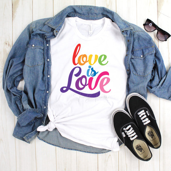 Love is Love Rainbow Text Pride Sublimation Transfer