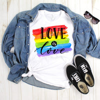 Love is Love Rainbow Watercolor Pride Sublimation Transfer