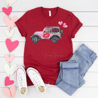 Love Jeep ADULT LOW HEAT Screen Print Heat Transfer