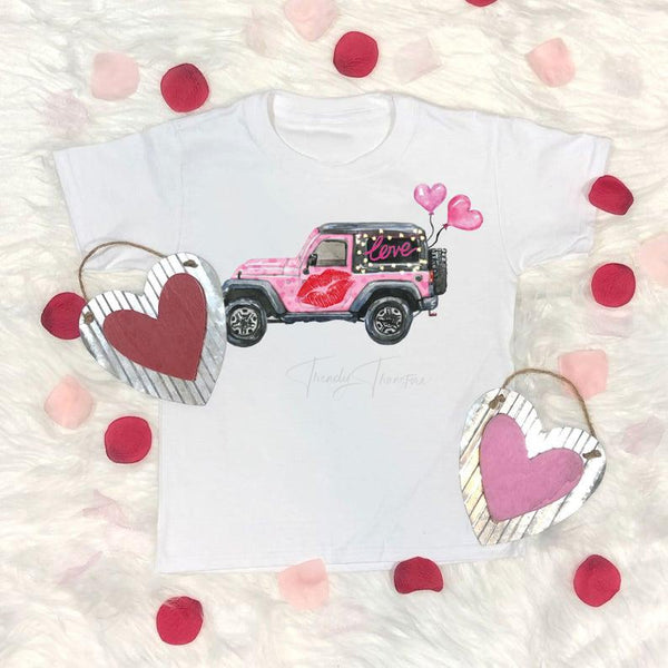 Love Jeep Valentines Jeep Sublimation Transfer