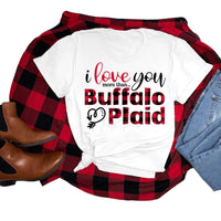 I Love You More Than Buffalo Plaid Valentine Sublimation Transfer