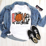 For The Love of The Game Basketball Screen Print Heat Transfer
