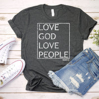 Love God Love People ISAIAH 6:8 Distressed Screen Print Transfer