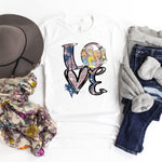 Love Golden girls glitter heart Sublimation Transfer