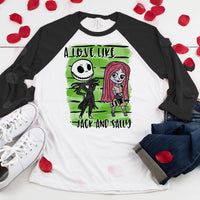 A Love Like Jack And Sally Sublimation Transfer