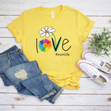 Love One Another Daisy Screen Print Heat Transfer