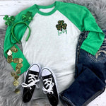 Lucky Leopard Shamrock POCKET CAN HUGGER Screen Print Transfer