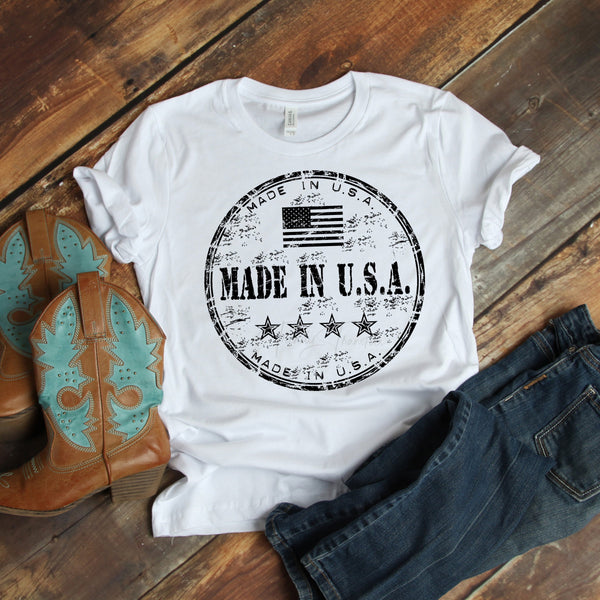 Made in the USA Black 4th of July Sublimation Transfer