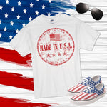 Made in the USA RED 4th of July Sublimation Transfer