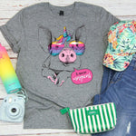 Magical Rainbow Pig YOUTH Screen Print Heat Transfer