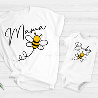Mama bee mommy and me honey bee Sublimation Transfer