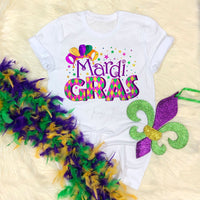 Jester Hat Colorful Beads Mardi Gras Sublimation Transfer