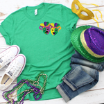 Mardi Gra Mask Pocket Screen Print Heat Transfer