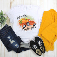Meet me at the pumpkin patch vintage truck Sublimation Transfer