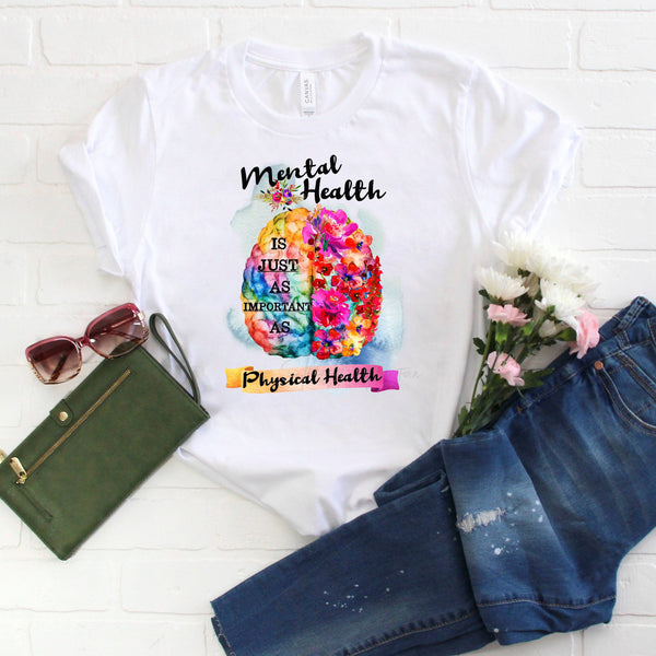 Mental Health Awareness Floral Watercolor Sublimation Transfer