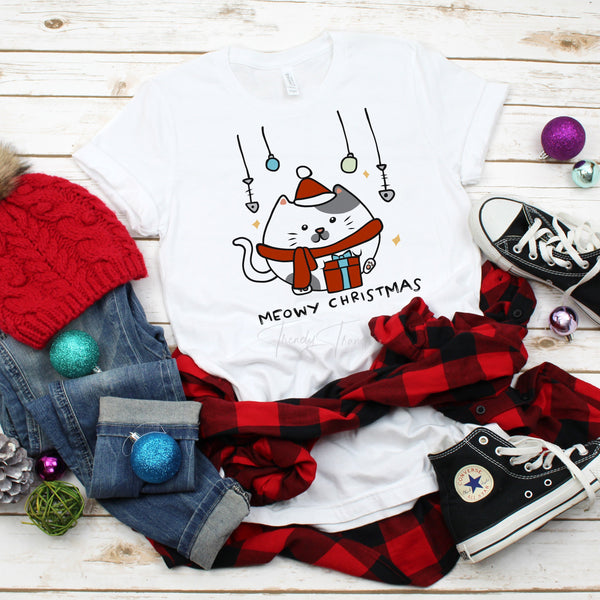 Meowy Christmas Sublimation Transfer