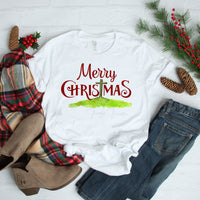 Merry ChrisTmas Cross Sublimation Transfer