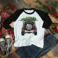 Merry Christmas Jeep Sublimation Transfer