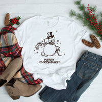 Merry Christmas Snowman Sketch art Sublimation Transfer