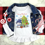 Merry Christmas Teddy Bear Sublimation Transfer