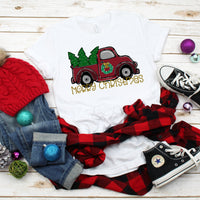 Merry Christmas Truck Christmas Tree Sublimation Transfer