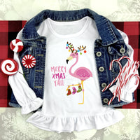 Merry Christmas Flamingo Sublimation Transfer