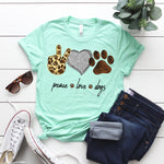 Peace Love Dogs SHIPS 7/17 Screen Print Heat Transfer