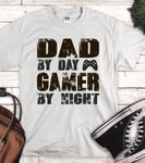 Dad By Day Gamer By Night Sublimation Transfer