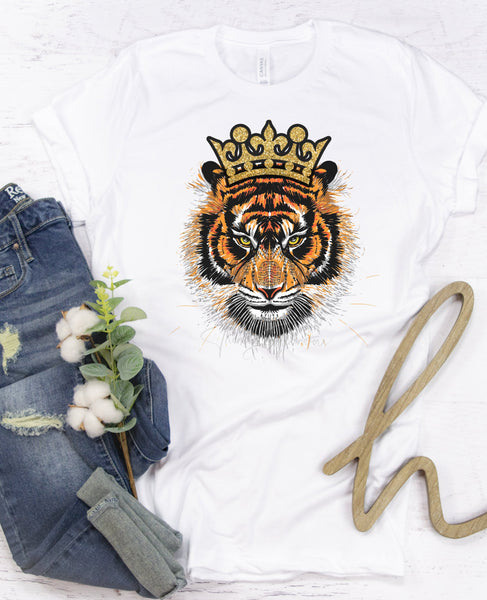 Tiger with Crown 2 Sublimation Transfer