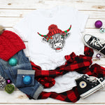 Christmas Shaggy Cow Hat Sublimation Transfer