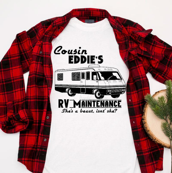 Cousin Eddie's RV Maintenance Sublimation Transfer