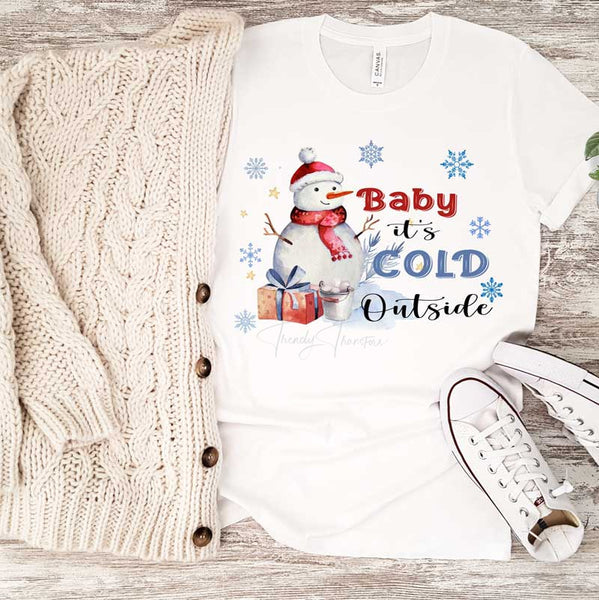 Baby It's Cold Outside Snowman Sublimation Transfer
